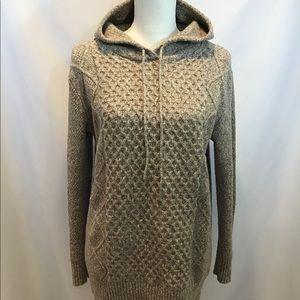American Eagle Beige Hooded Sweater